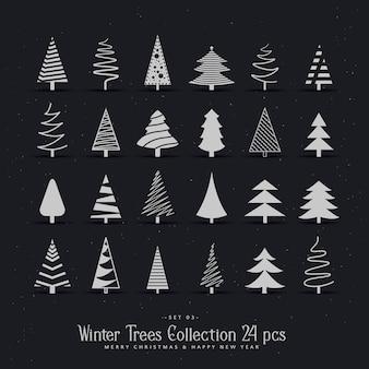 20種類のクリスマスツリーデザインセット