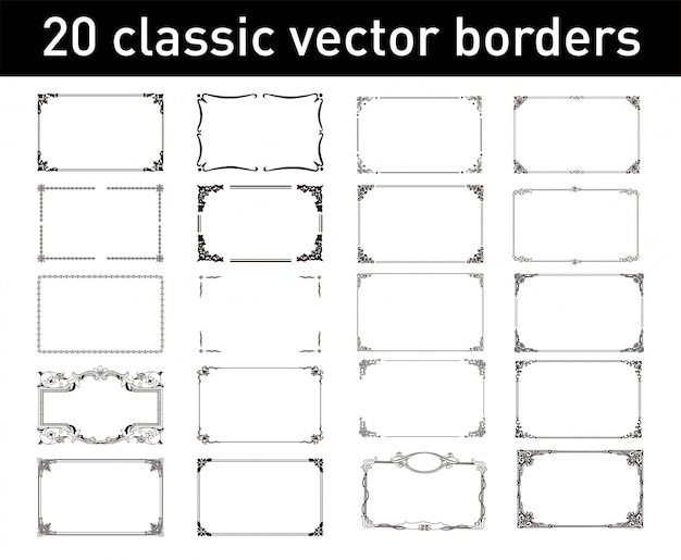 20 классических векторных границ