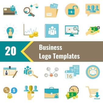 20のビジネスのロゴのテンプレート