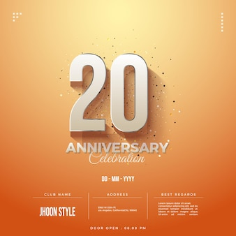 20주년 초대 배경