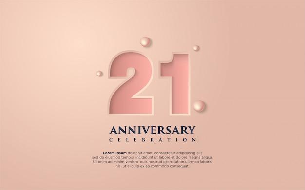 21-я годовщина иллюстрация