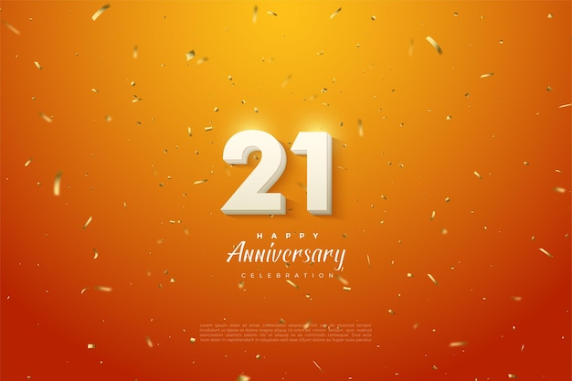 21 주년 기념 배경에 숫자가 가운데에 발산됩니다.