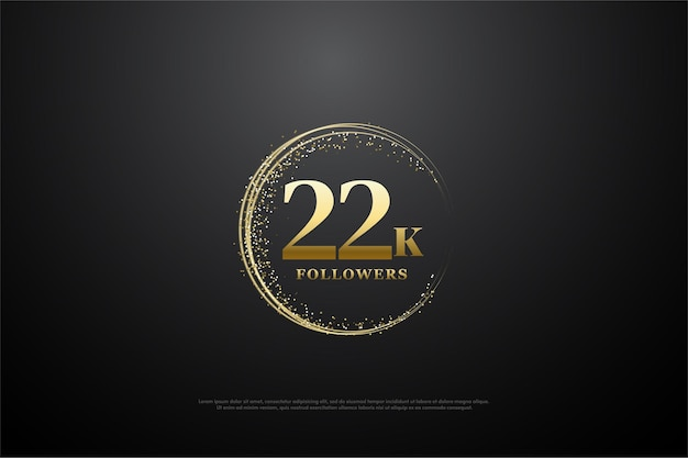 22k подписчиков с круглыми золотыми числами