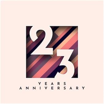 23 years anniversary design