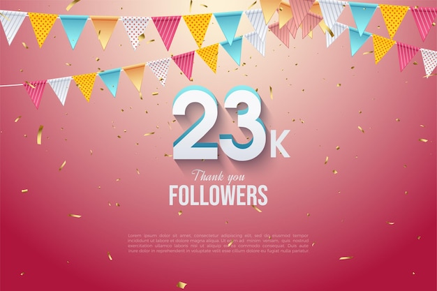 23k followers with modern 3 dimensional numbers