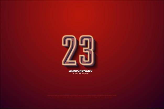 고유번호 일러스트가 있는 23주년