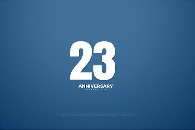 흰색 숫자가 있는 23주년