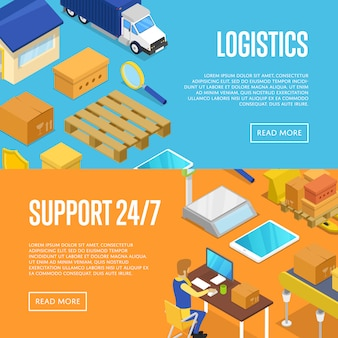 24/7 delivery support and warehouse logistics set