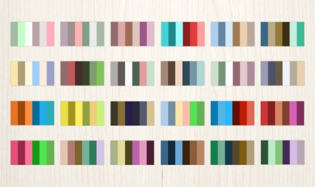24 complementary color palettes