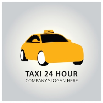 24 hour taxi logo template