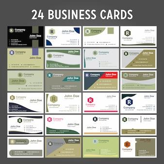 24 визитных карточек
