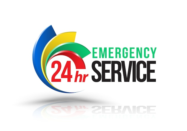 24hr emergency service logo