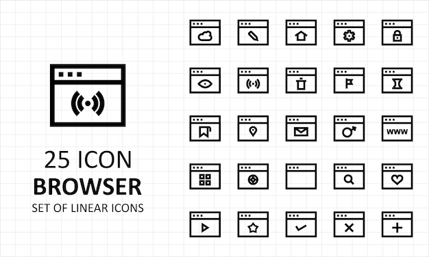 25 browser icon sheet