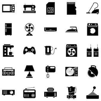 25 electronic devices icons