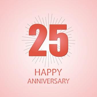 25幸せな記念日のタイポグラフィー