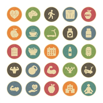 25 icon set of health for personal and commercial use