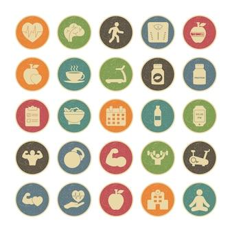 25個人および商業用の健康のアイコンセット