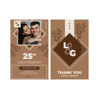 25 years anniversary card template
