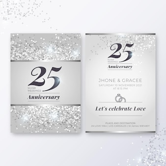 25 years anniversary card