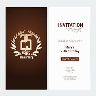 25 years anniversary invitation