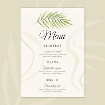 25 years anniversary menu template