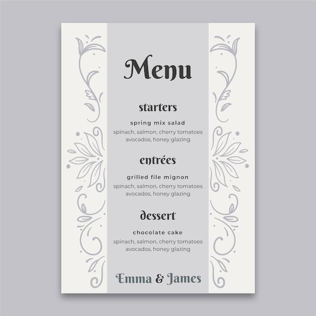 25 years anniversary menu