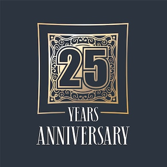 25 years anniversary  template