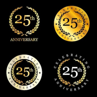 25 years celebrating laurel wreath badge