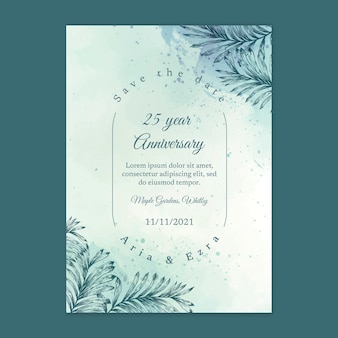 25 년 결혼 기념일 카드