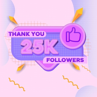 25000 followers square banner modern look