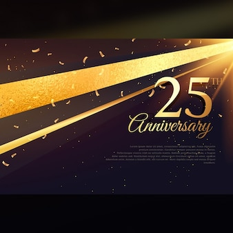 25周年のお祝いカードテンプレート