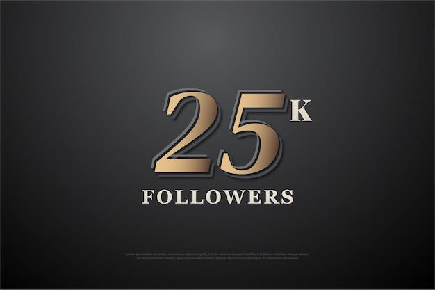 25k подписчиков с простой иллюстрацией дизайна чисел