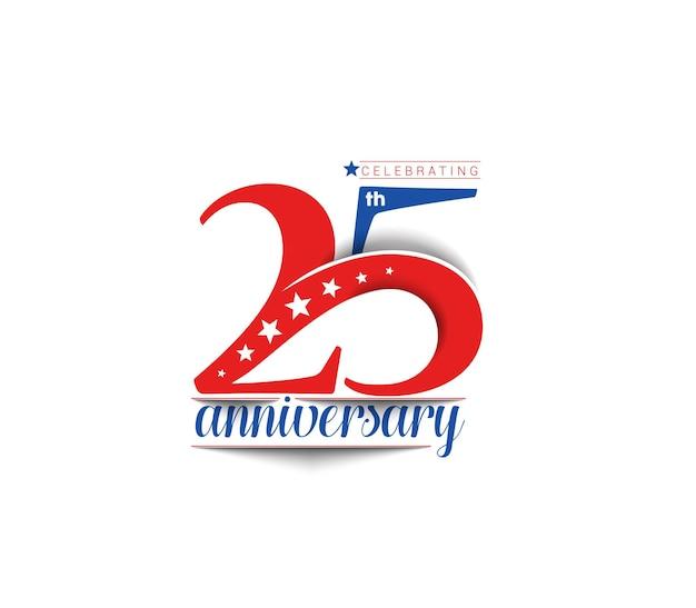 25주년 기념 벡터 디자인.