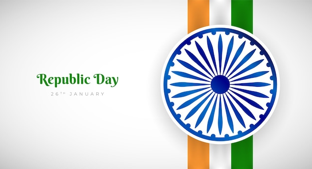 26 january indian republic day greeting design