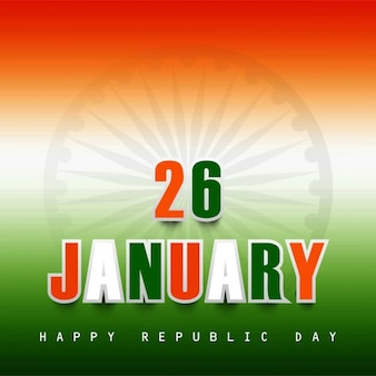 26 january tricolor background