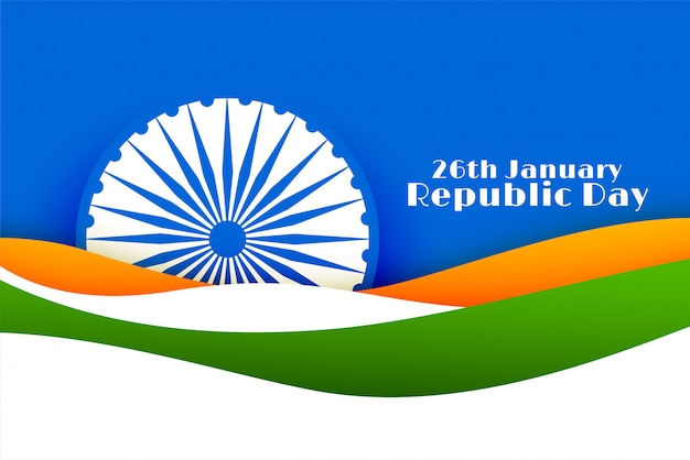 26th january happy republic day of india