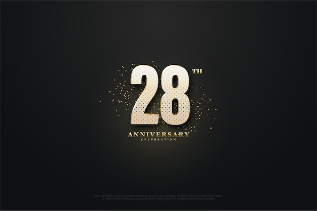 Фон к 28-летию с пунктирными числами