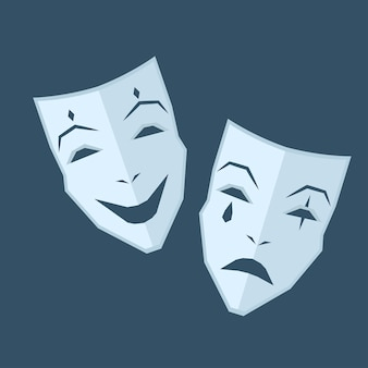マルディグラ。感情の異なる2つのマスク