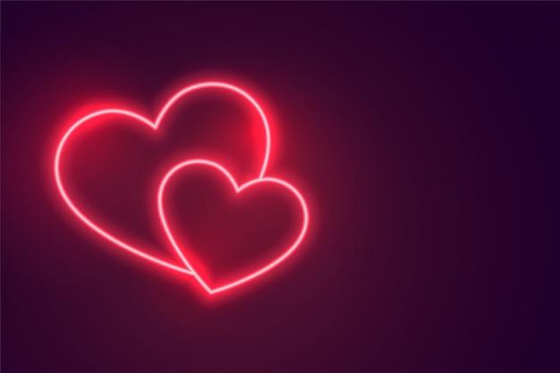 互いに接続された2つのロマンチックな心