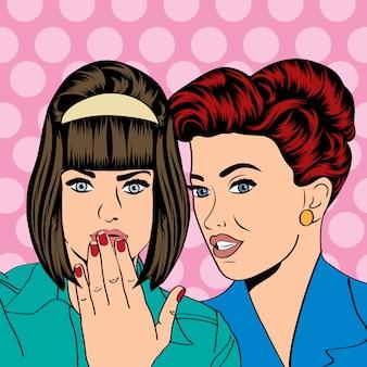 2人の若いガールフレンドが話す