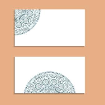 2枚のスタイリッシュなカード