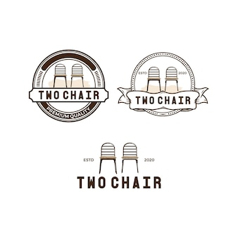 2つの椅子のビンテージロゴパック