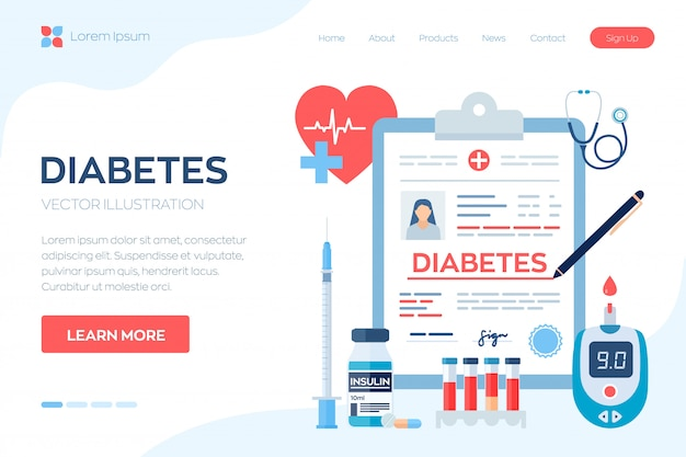 Медицинский диагноз - диабет. сахарный диабет типа 2 и концепция производства инсулина.