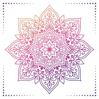 花のグラデーションマンダラ2