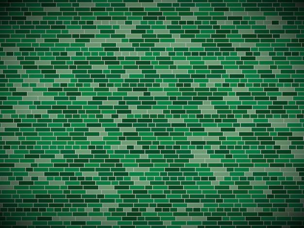 緑のレンガの壁のビネットと背景。ロシア軍の休日のレンガの壁のテクスチャ-2月、祖国の擁護者の日