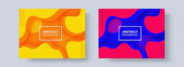 抽象的な紙は2色のオプションで背景をカット