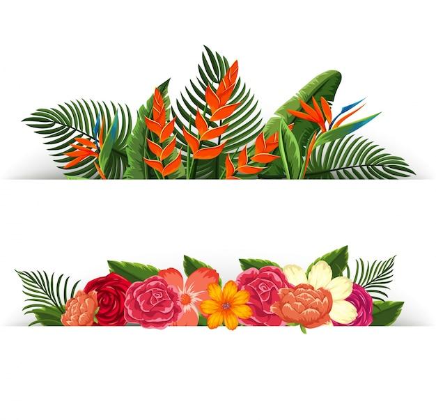 花の装飾の2つのデザイン