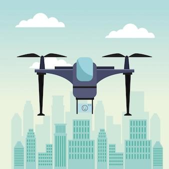 2つの飛行機飛行機とデバイスカメラを備えた最新の無人機