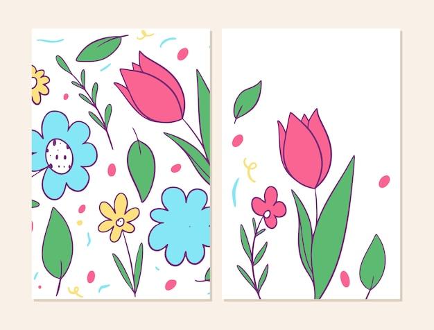 花模様の2つのカバー。