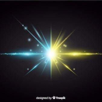 2つの力光効果リアルなスタイル